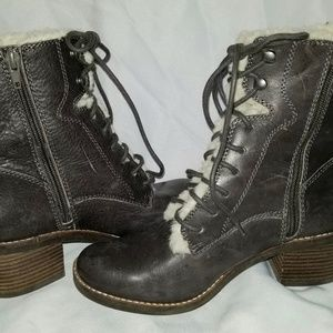 Sz 7, Lucky Brand Ankle Boots Cambreen Lace Up